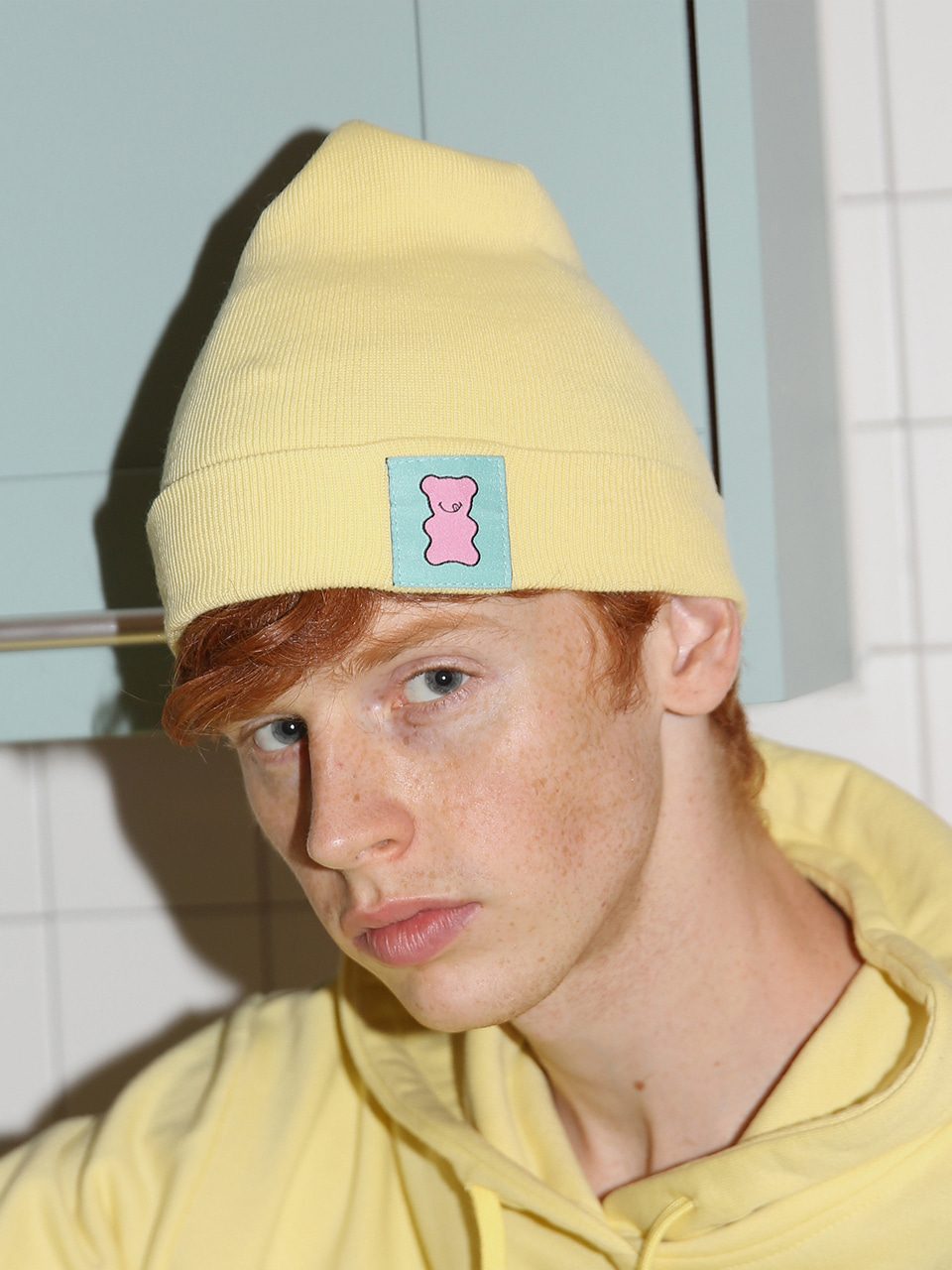 [10%SALE] Candy shop logo beanie - LEMON